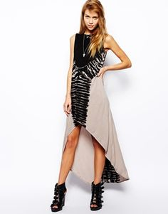 Religion Tie Dye Maxi Dress With Hi Low Hem from Asos