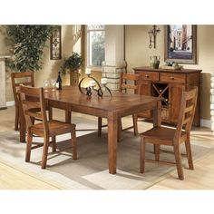 Intercon Scottsdale Solid Rubberwood 5-piece Dinette Set- just the table- maybe use the chairs in the kitchen
