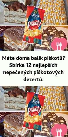 Máte doma balík piškotu? Sbírka 12 nejlepších nepecených piškotových dezertu. Sweet Recipes, Snack Recipes, Snacks, Pop Tarts, Cheesecake, Food And Drink, Drinks, Snack Mix Recipes, Appetizer Recipes