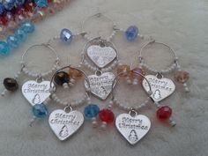 Christmas Wine Glass Charms - The Supermums Craft Fair
