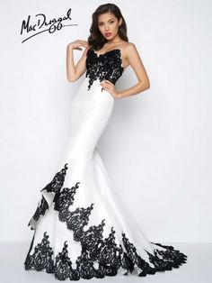 YSMei Womens Sweetheart Mermaid Wedding Party Dresses Long Backless Prom Gowns Train White 2 * You can get additional details at the image link. White Embroidered Dress, Fit N Flare Dress, Black Wedding Dresses, Mermaid Evening Dresses, Red Fashion, Lace Dress, Dress Long, Long Dresses, Strapless Dress