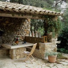 estilo rústico en el jardín precioso