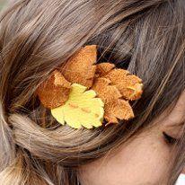 headband feuille cuir