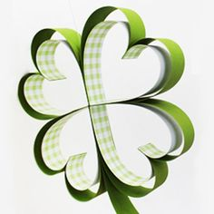 St. Patrick's Day Crafting!  How to make paper shamrocks!  Easy tutorial with step by step photos!