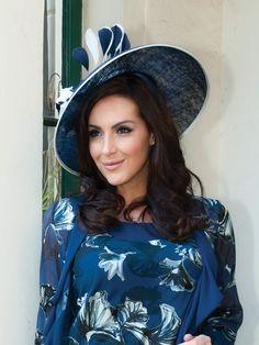Navy & Cream Trim Hatinator Chesca Mother of the Bride Hats and Fascinators