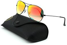 RayBan RB3362 Cockpit Unisex Metal Sunglasses Shiny Black FrameOrange Lens 0024W 59 *** Check out this great product.