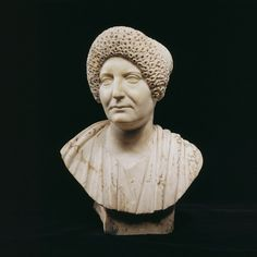 Roman Marble Bust of a Woman. Period : century A. Ancient Rome, Ancient Art, Ancient History, Marble Bust, Roman Empire, Headpieces, Period, Sculptures, Art Gallery
