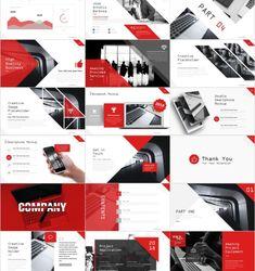 4 in 1 Beautiful Company Presentation template Web Design, Web Banner Design, Slide Design, Design Layouts, Graphic Design, Company Presentation, Presentation Layout, Presentation Templates, Powerpoint Design Templates