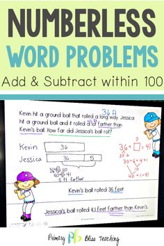 These numberless math word problems will help your students accurately solve all types of addition and subtraction word problems within They come in a paperless, digital version and a printable version. Teachers LOVE them! Get your set today! First Grade Lessons, Teaching First Grade, First Grade Math, Teaching Math, Math Lessons, Math Fact Practice, Math Fact Fluency, Math Words, Math Lesson Plans