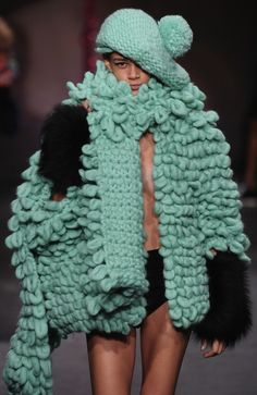 definitely what I would think to wear with only my panties on a nippy winter's day