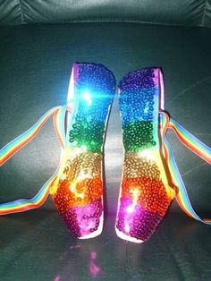 Colorful Pointe Shoes   My pointe shoes with rainbow sequins (7930377) - Read article: Ballet ...