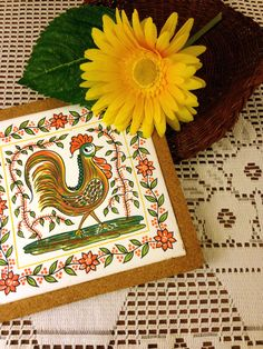 French Country Rooster Hot Pad by TychoAndMarie on Etsy https://www.etsy.com/listing/240692355/french-country-rooster-hot-pad