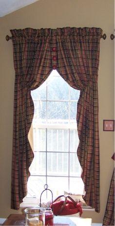 Prairie Curtain made custom to be fuller & longer.