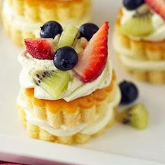 Quick Recipes & Kitchen Tips: mini fruit tortes