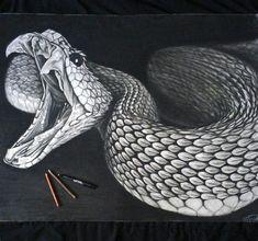 drawings of reptiles Dark Drawings, Amazing Drawings, Realistic Drawings, Animal Drawings, Pencil Drawings, Snake Drawing, Snake Art, Kobra Tattoo, Snake Tattoo