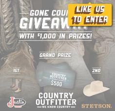 Win a $500 Country Outfitter gift card! Expires:  March 13, 2015 | Eligibility:  United States | 18+ Click to enter!