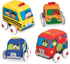 Melissa and Doug Kids' Pull-Back Vehicle Toys