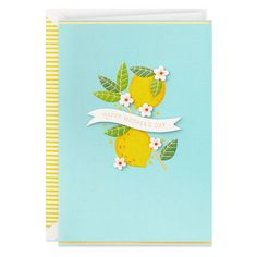 "Bird /& Quill By Papyrus Foil Stamping /& Glitter ""Boy Or Girl"" Baby Shower Card"
