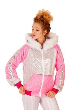 1878b5ad0042e State of Disarray! Pink and Silver - Party Puffer #stateofdisarray  #recklessfashionrevolution #festivalfashion