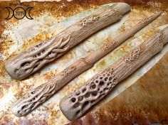 Wood magic wands shop, wiccan, cosplay and Sculptures by BacchettemagicheMB Wizard Wand, Wood Carving Art, Davy Jones, Etsy Seller, Magic Wands, Harry Potter, Shop, Wand, Magic Bars