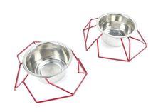 Chamfer Steel Wire Diner from GO! Pet Design - Dog Milk