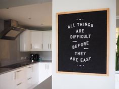 Letterboard for the kitchen Word Board, Quote Board, Message Board, Sign Quotes, Cute Quotes, Words Quotes, Felt Letter Board, Felt Letters, Black Letter Board