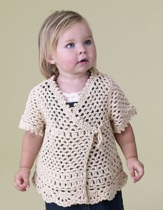 Free Crochet Pattern Lacy Child Top from Lion Brand Yarn Company