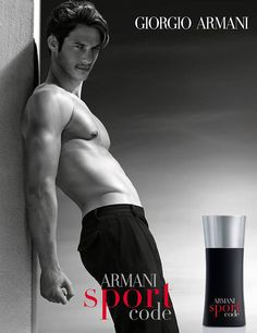 Domenique Melchior, as the new face of Armani Code Sport. The Austrian model is already the face of the Armani Code Ultimate fragrance. Emporio Armani, Giorgio Armani Code, Armani Jeans, Armani Sport Code, Lacoste, Armani Fragrance, Fragrance Parfum, Boutique Parfum, Perfume Ad