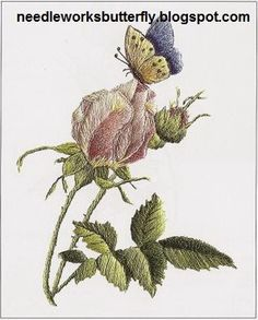 Needle-Works Butterfly: Wonderful Flowers In Embroidery