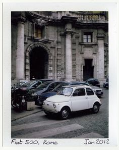 Fiat 500, Rome (FP-100C + Polaroid Automatic 340)089 - by flickr user Chi Bellami