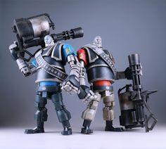VALVe Team Fortress 2 Mann vs. Machine Robot Heavy BLU + RED Bambalandstore exclusive set | Artist: Ashley Woods