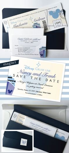 Disney Cruise Wedding Invitation, Boarding Pass wedding invite, Mickey Mouse ship, Nautical Wedding Invitations, ticket, destination, Sample