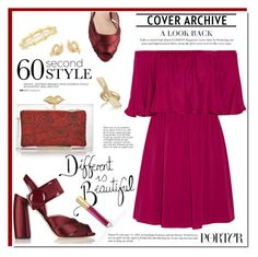 """""""off The Shoulder Dress: 60 sec. style"""" by rosie305 ❤ liked on Polyvore featuring Alice + Olivia, Charlotte Olympia, Miu Miu, Jennifer Fisher, Gucci, David Webb, Anja and 60secondstyle"""