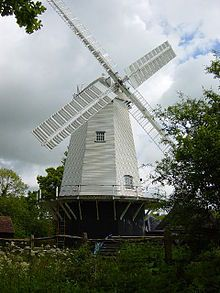 King's Mill or Vincent's Mill, Shipley, West Sussex, England is a smock mill built in 1879 which has been restored. It was built by Messrs Grist & Steele, the Horsham millwrights. Machinery from a windmill at Coldwaltham is believed to have been incorporated in the mill. The mill worked commercially until 1926, latterly by a steam engine. It was bought in 1906 by Hilaire Belloc, who owned it until his death in 1953. King's Mill was restored as a memorial to Belloc soon after his death.