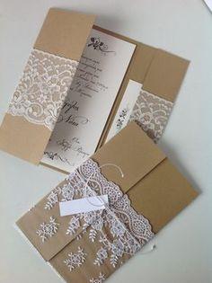 24 Ideas For Vintage Wedding Invitations Diy Lace Vintage Wedding Invitations, Wedding Stationary, Wedding Invitation Cards, Invitation Wording, Handmade Invitation Cards, Vintage Wedding Cards, Wedding Rustic, Trendy Wedding, Invites