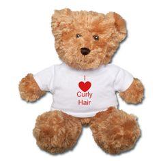 I (Heart) Curly Hair teddy bear ~ $28.00 #naturalhair #curlyhair #gifts #valentinesday