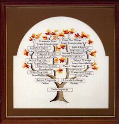 My Family Tree Crosstitch Pattern by Caroletta Ingrando