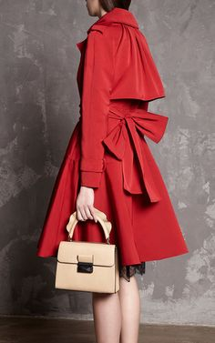 Belted Ottoman Trench Coat by PAULE KA for Preorder on Moda Operandi