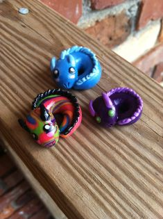 Rainbow+baby+dragon+polymer+clay+charm+by+ImperfectArts+on+Etsy,+$4.00