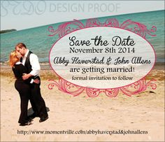 4x3.5 inch photo save the date magnet #wedding