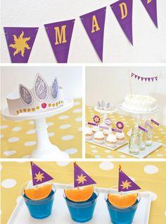Free Tangled printable decorations!