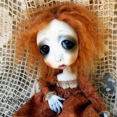 Loopy Gothic Art Doll Ooak Doll Tess by loopyboopy on Etsy, $250.00