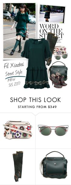 """""""Street Style - Milan Fashion Week Spring/Summer 2017"""" by emavera ❤ liked on Polyvore featuring Fendi"""