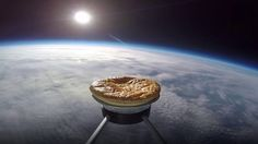 "A meat and potato pie is sent ""into space"" attached to a weather balloon and is being tracked on its journey to 100,000 feet."