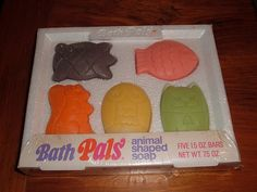 1970 Pals soap. I forgot about these, remember  being afraid they'd loose their faces when used them.