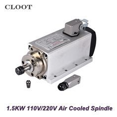 Package Includes: 1 x 1.5KW Spindle Motor Feature: Power: 1500W Voltage: 220V/110V Frequency: 0-400Hz Speed: 0-24000rpm Cooling: Air cooling Runout Off: less than 0.02mm Bearings: NSK6002*4 Collet: ER11 Note: When