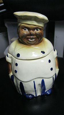 vintage 40s National Silver Co BLACK AMERICANA CHEF Cookie Jar  I have this jar and love it.