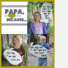 Father's Day Gift for Papa/Popo Fathers Day Photo, Fathers Day Crafts, Holiday Crafts, Holiday Fun, Daddy Day, 50th Birthday Gifts, Dad Birthday, Birthday Quotes, Mother And Father