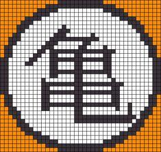 Alpha friendship bracelet pattern added by dragon ball z master roshi symbol gi goku krillin yamcha logo. Cross Stitching, Cross Stitch Embroidery, Cross Stitch Patterns, Perler Bead Templates, Perler Patterns, Goku Pixel, Perler Bead Art, Perler Beads, Minecraft Pixel Art