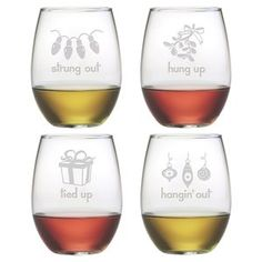 These whimsical Ski Trails stemless wine glasses are a fun set to add to your home bar. The stemless tumblers are great for daily use and they make a great gift.Spunky Ski Trails Stemless Wine Glasses ~ Set of 4 Stemless Wine Glasses, Champagne Glasses, Wine Tumblers, Wine Bottles, Wine Corks, Etched Gifts, Make Your Own Wine, Glass Engraving, Wine Reviews